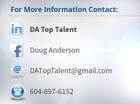 Doug Anderson DA Top Talent Contact Info